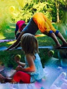 Yoga im Park 24.6. 2